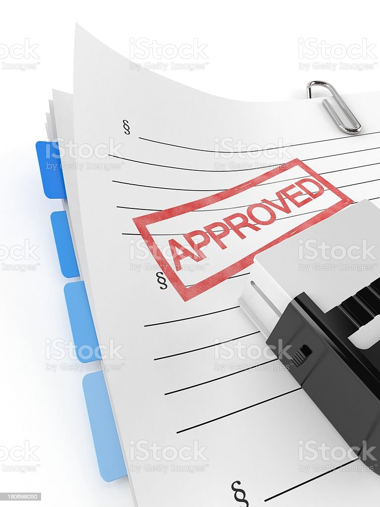 Approved files royalty-free stock photo