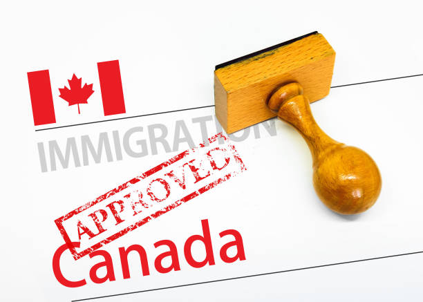 Approved Immigration Canada stock photo