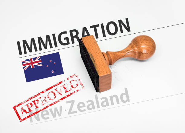 Approved Immigration New Zealand application form stock photo