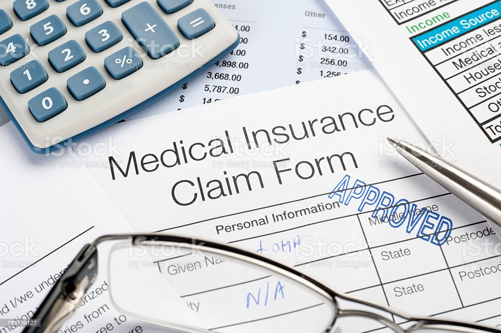 Approved Medical insurance claim stock photo