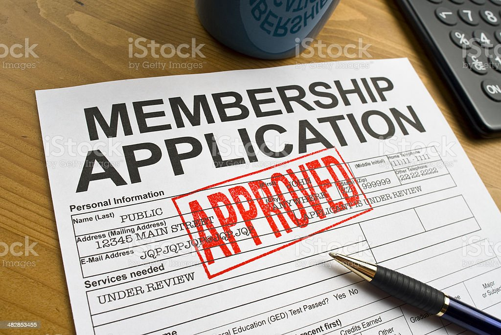 Approved Membership Application royalty-free stock photo