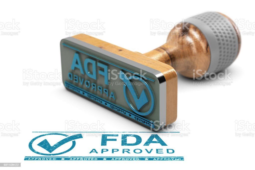 FDA Approved Products or Drugs stock photo
