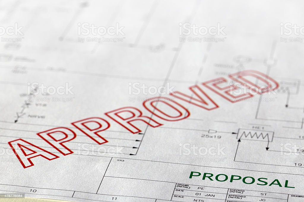 Approved Proposal stock photo