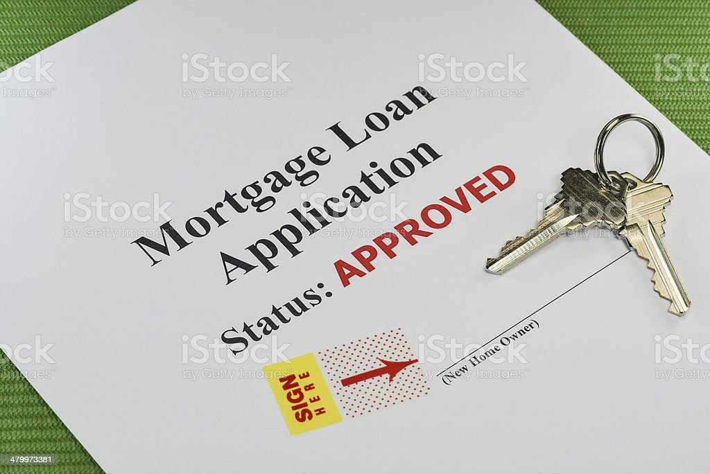 Approved Real Estate Mortgage Loan Document Ready For Signature stock photo