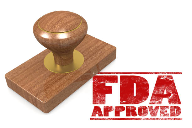 fda approved red rubber stamp - fda stock photos and pictures