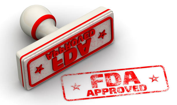 fda approved. seal and imprint - fda stock photos and pictures