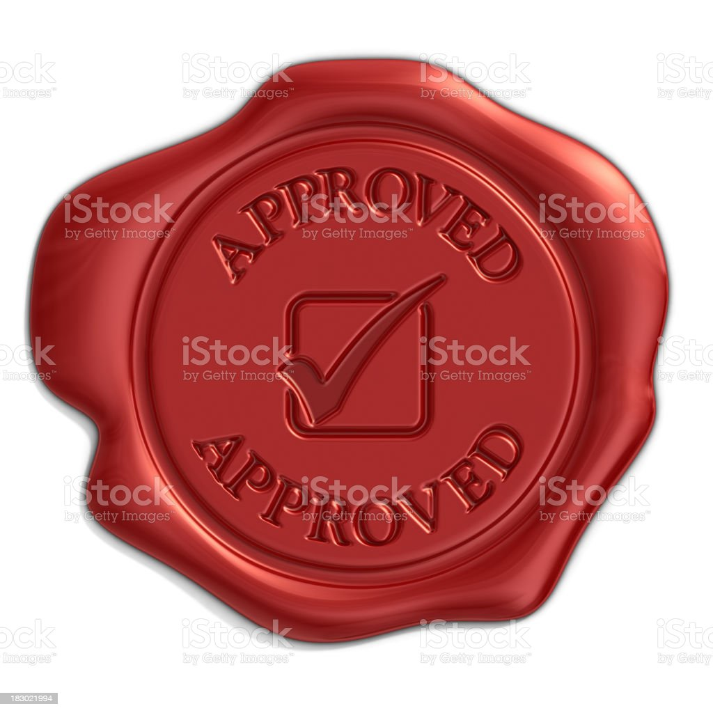 approved seal royalty-free stock photo