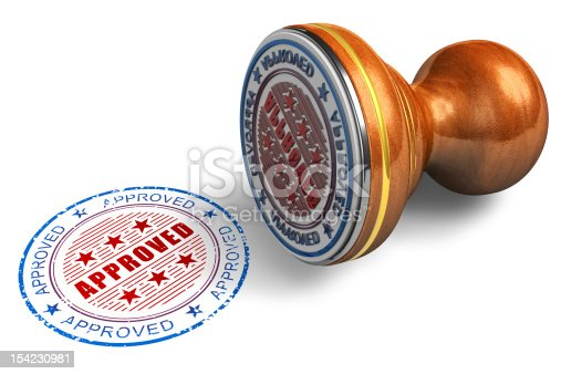 istock Approved stamp 154230981