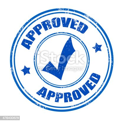 istock Approved stamp 476400529