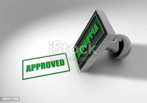 istock Approved Stamp 690570396