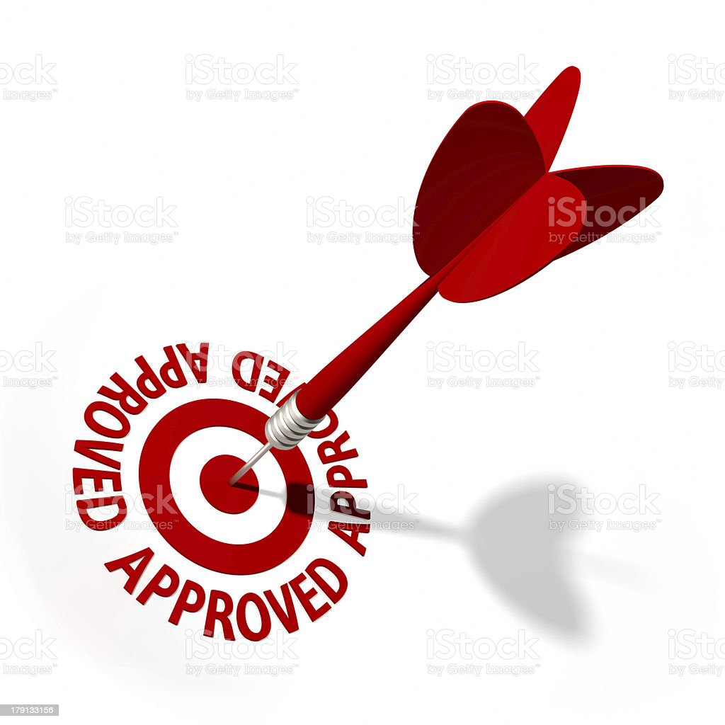 Approved Target royalty-free stock photo
