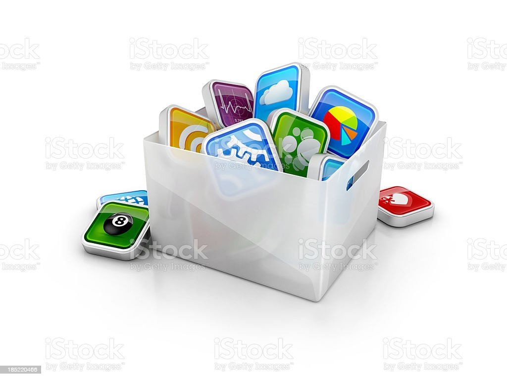 apps storage or backup stock photo