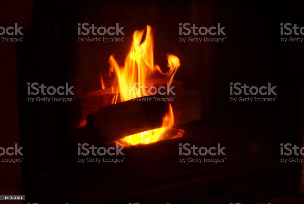 Apreski fireplace royalty-free stock photo