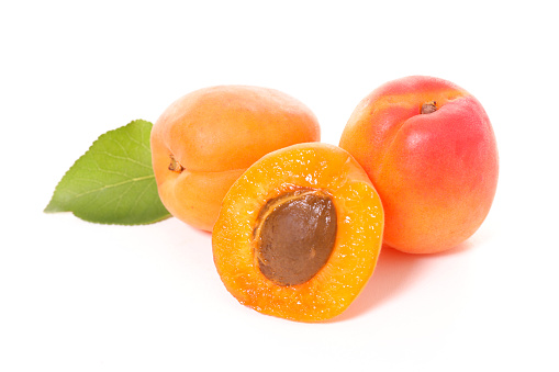 Apricot And Leaf Stock Photo - Download Image Now