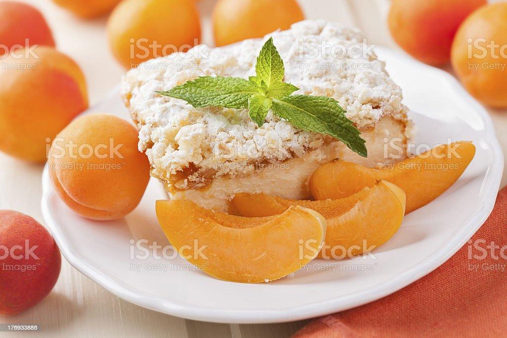 Apricot cake stock photo