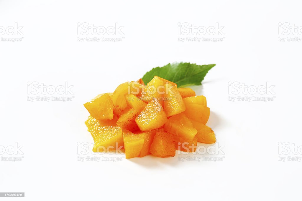apricot cubes royalty-free stock photo