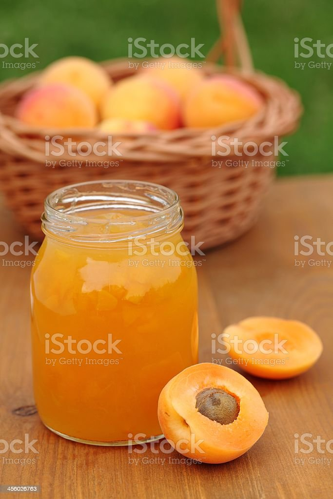 Apricot jam royalty-free stock photo