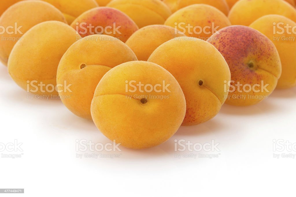 apricot on white background royalty-free stock photo