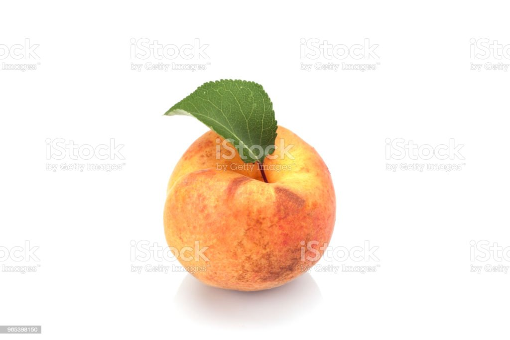 Apricot on white royalty-free stock photo