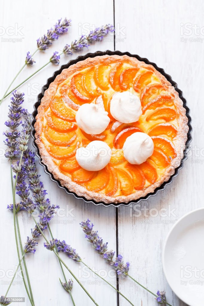Apricot pie stock photo