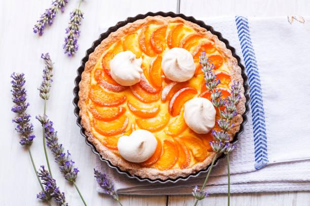 Apricot pie stock photo