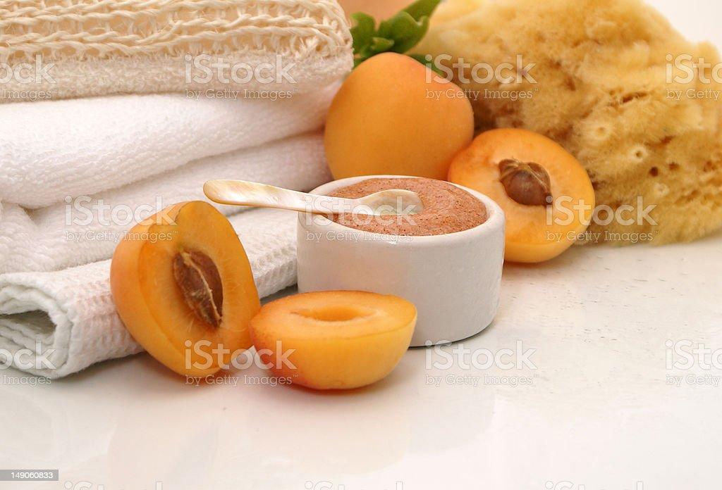 Apricot Spa Treatment royalty-free stock photo