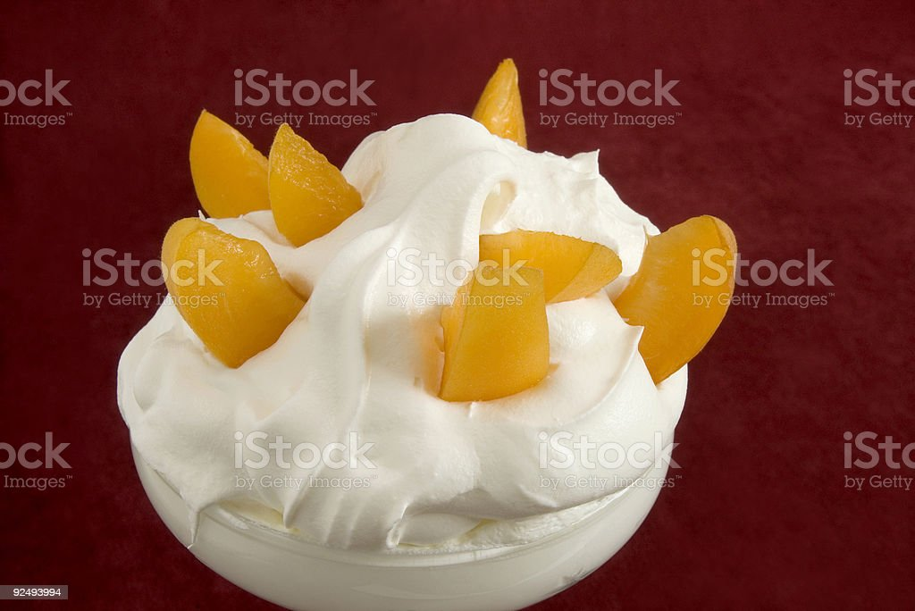 Apricots And Cloud Of Cream, What A Dream! royalty-free stock photo