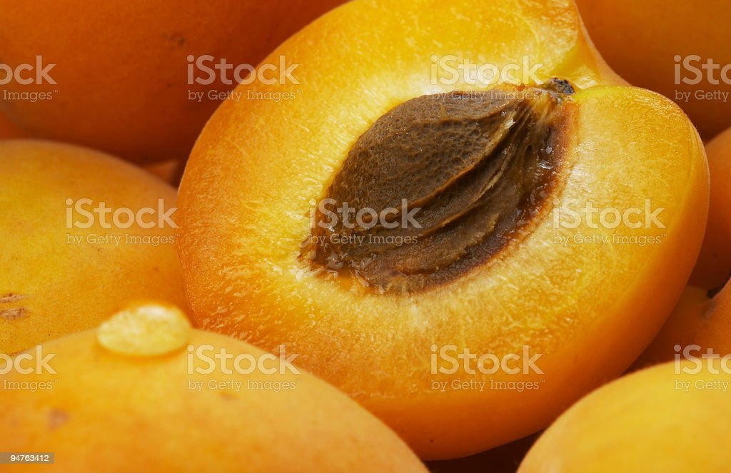 apricots and drop stock photo
