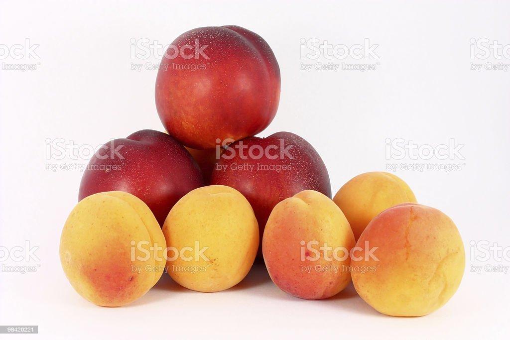 Albicocche e nectarines foto stock royalty-free