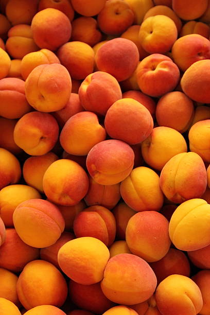 Apricots full frame  pejft stock pictures, royalty-free photos & images