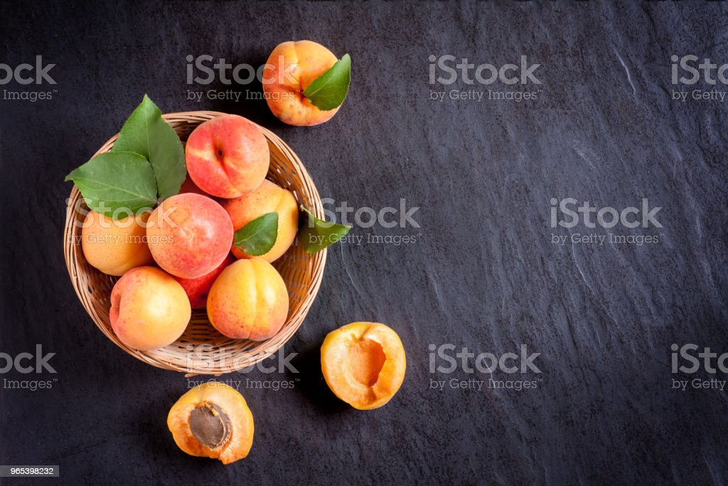 Apricots in bowl royalty-free stock photo