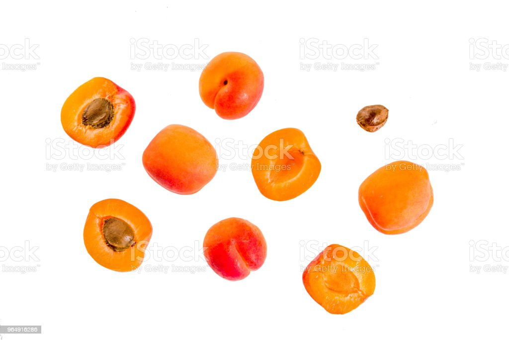 Apricots isolated on white food royalty-free stock photo