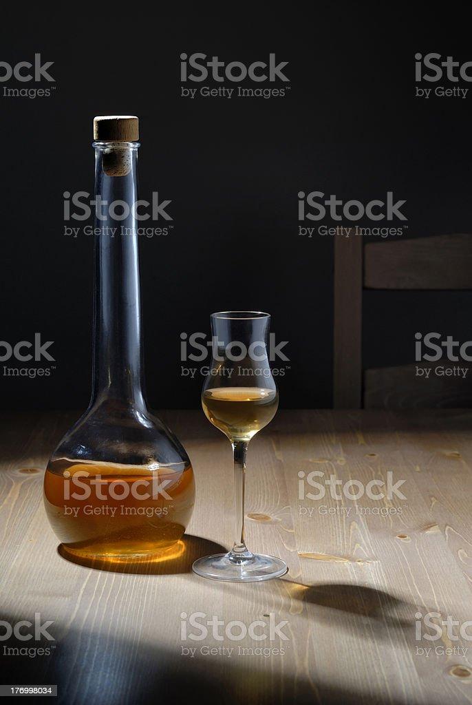 Apricots Liquor royalty-free stock photo