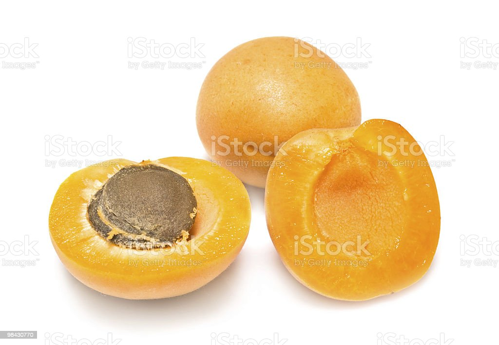 apricots on a white background royalty-free stock photo