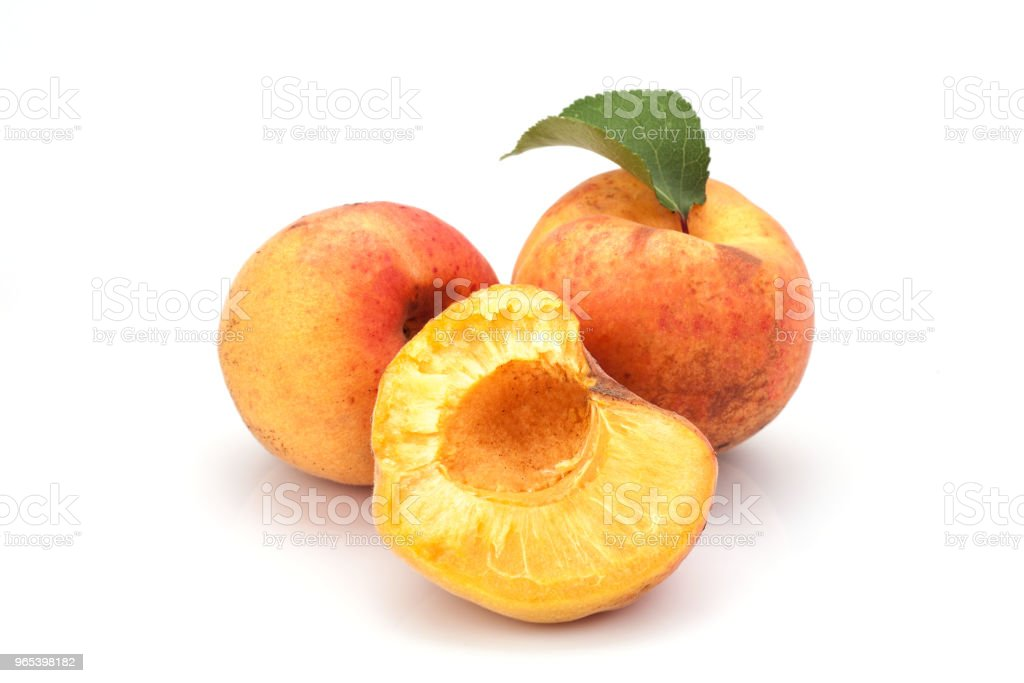 Apricots on white royalty-free stock photo