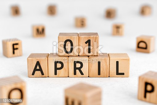 istock April 1 - from wooden blocks with letters 1210575689