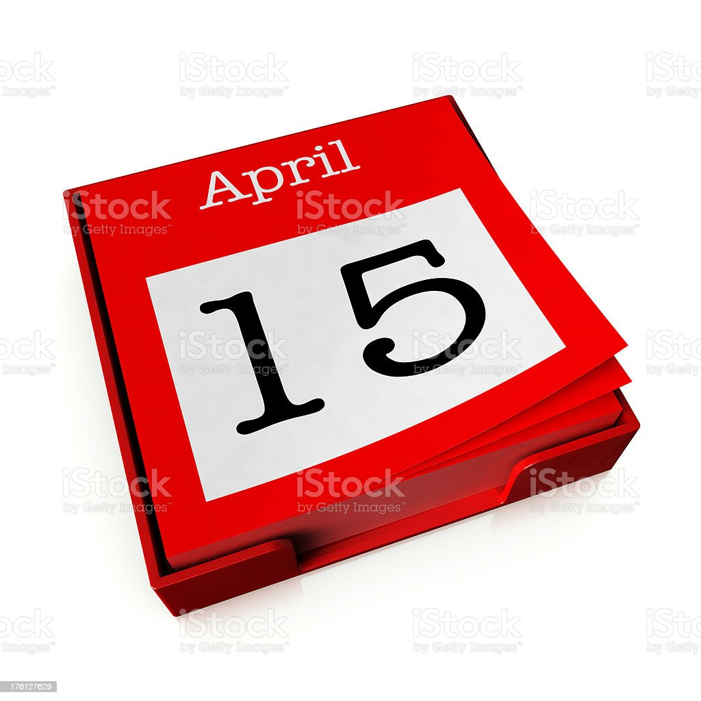 April 15th stock photo