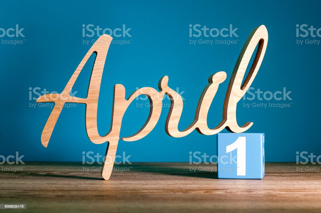 April 1st or April Fool's Day stock photo