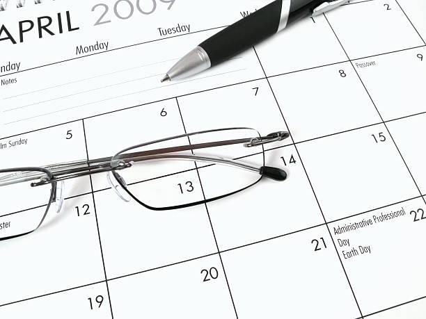 April 2009 Calendar stock photo
