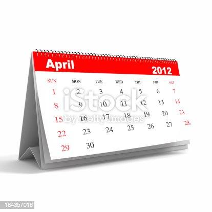 istock April 2012 - Calendar series 184357018