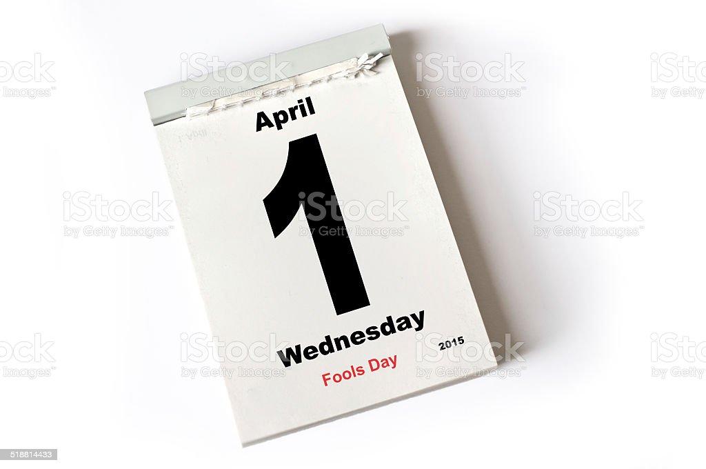 1. April 2015  Fools Day stock photo