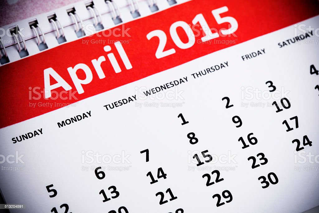 April 2015 stock photo