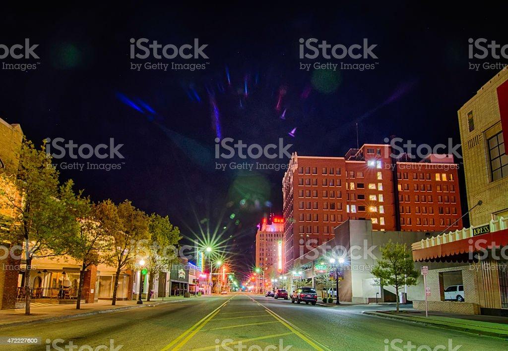 April 2015 - streets of amarillo texas city skyline stock photo