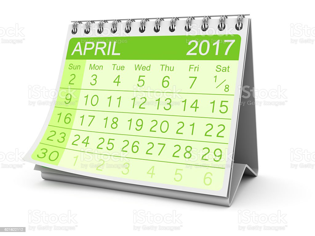 April 2017 stock photo
