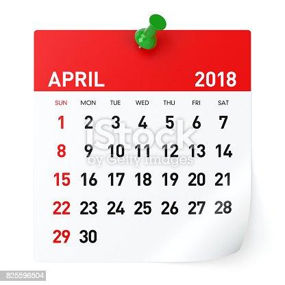 istock April 2018 - Calendar 825596504