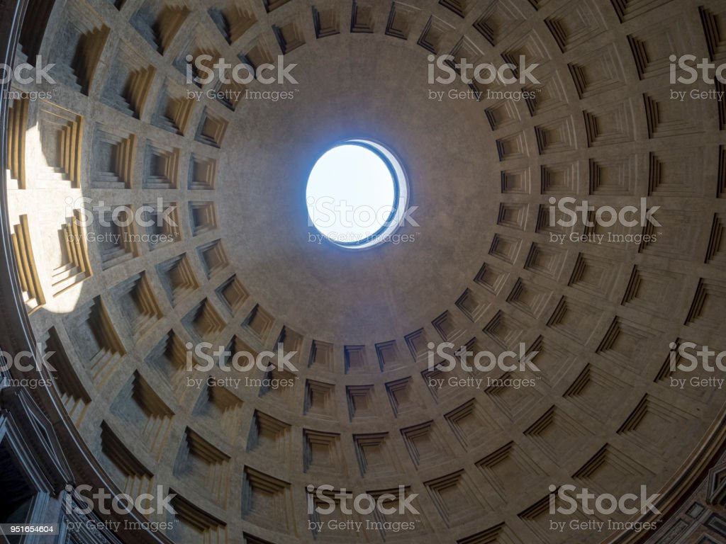 20 april 2018, Pantheon,  ancient roman temple  in Rome, Italy stock photo