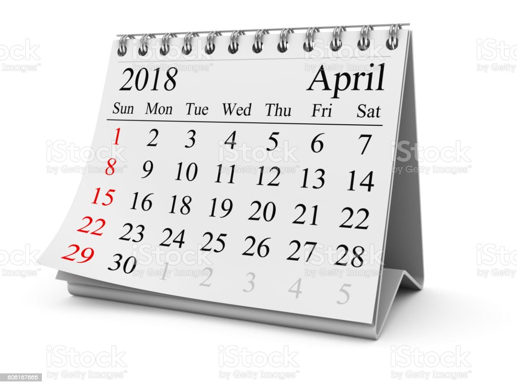 April 2018 stock photo