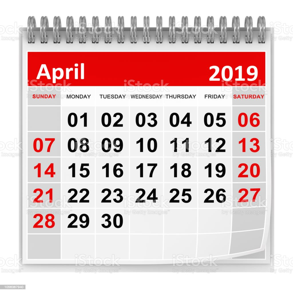 April 2019 stock photo