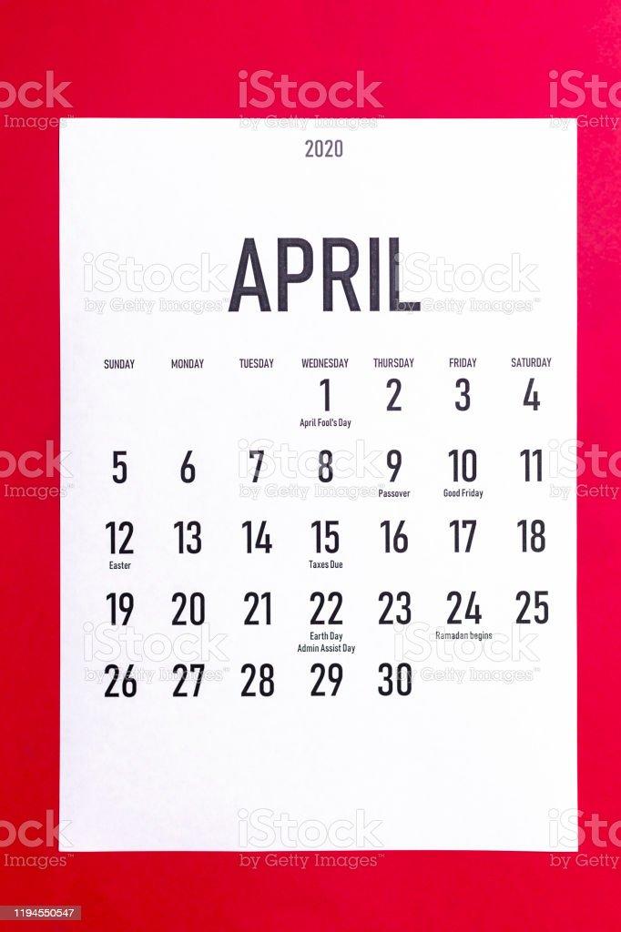 Download Holidays April 2020