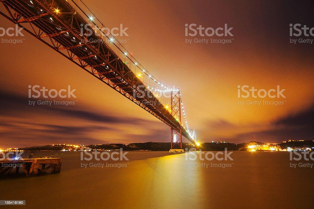 April 25th Bridge at Twilight stock photo